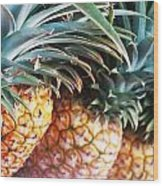 Pineapples Anyone Wood Print