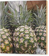 Pineapples Wood Print by Methune Hively