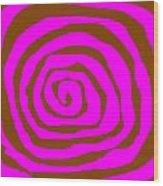 Pink And Brown Swirls Wood Print by Jeannie Atwater Jordan Allen