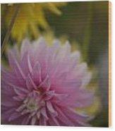Pink And Yellow Wood Print