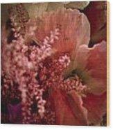 Pink Arrangement Wood Print
