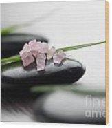 Pink Bath Salt Wood Print