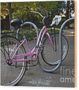 Pink Bicycle . 7d10159 Wood Print