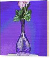 Pink Blues Wood Print