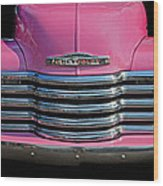 Pink Chevrolet Truck Wood Print