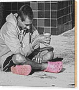 Pink Crocks Wood Print
