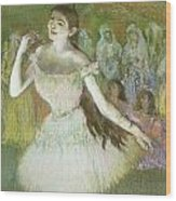 Pink Dancer  Wood Print by Edgar Degas