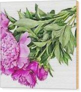Pink Floral Summer Wood Print