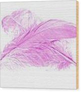 Pink Ghost Wood Print