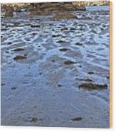 Pink Granite Island In Low Tide Wood Print