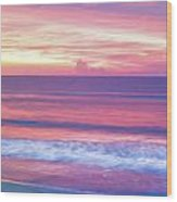 Pink Ocean Sunrise Wood Print