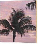 Pink Palm Wood Print