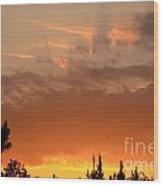 Pink Rays And Orange Skies Wood Print
