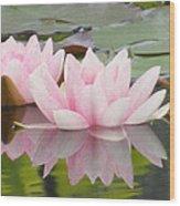 Pink Reflections Wood Print