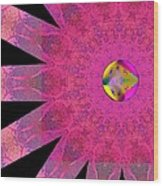Pink Ribbon Of Hope Wood Print