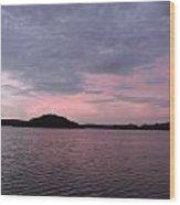 Pink Sky Lake Wood Print
