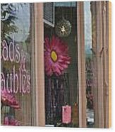 Pink Storefront Wood Print