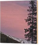 Pink Sunset Wood Print
