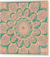Pink Swirls Wood Print