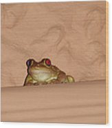 Pinky Toad Wood Print