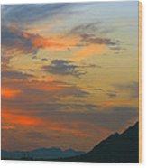 Pinnacle Peak Sunset Wood Print