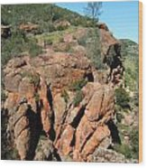 Pinnacles Outcropping Photograph Wood Print