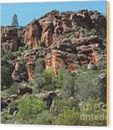 Pinnacles Rock Face Photograph Wood Print