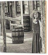 Pioneer Lady Wood Print