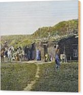 Pioneers Sod House, 1887 Wood Print