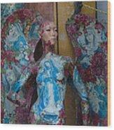 Pious Angel Detail Wood Print