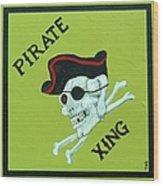 Pirate Crossing Beware Wood Print