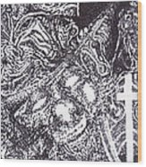 Pirate Monkey Squid Clam Wood Print