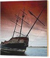 Pirate Ship 2 Wood Print