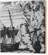 Pirate Ships Wood Print