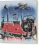 Pirates Ransom - Clearwater Florida Wood Print