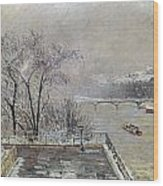 Pissarro: Louvre, 1902 Wood Print
