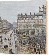 Pissarro: Theatre Francais Wood Print