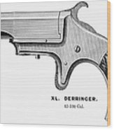 Pistol, 19th Century Wood Print by Granger