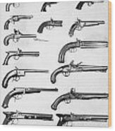 Pistol And Revolvers Wood Print
