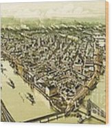 Pittsburg Pennsylvania Wood Print by Pg Reproductions
