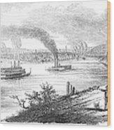 Pittsburgh, 1853 Wood Print