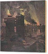 Pittsburgh: Furnaces, 1885 Wood Print