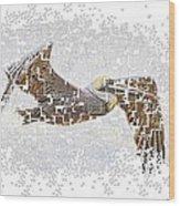 Pixel Pelicano Wood Print