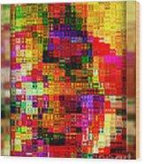 Pixels Wood Print