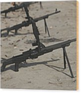 Pk General-purpose Machine Guns Stand Wood Print