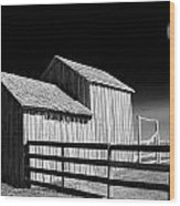 Plains Frontier Farm And Windmill Wood Print