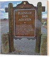 Plains Of San Agustin Wood Print