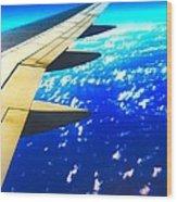 Plane Time Wood Print