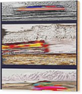 Planes Trains Automobiles Triptych Wood Print