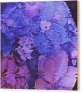 Planet Of Flowers Wood Print
